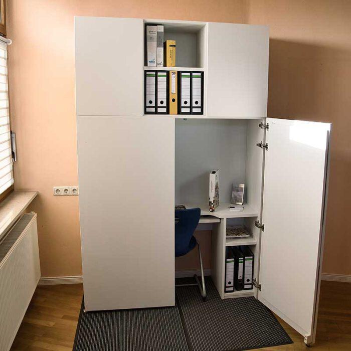 Aufsatzelement BUSINESS Ansicht für HomeBox 120 und 160 - Home-Office auf Mass