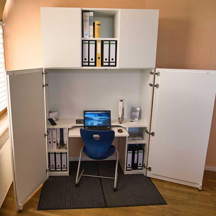 Aufsatzelement BUSINESS Türen Fachböden für HomeBox 120 und 160 - Home-Office auf Mass