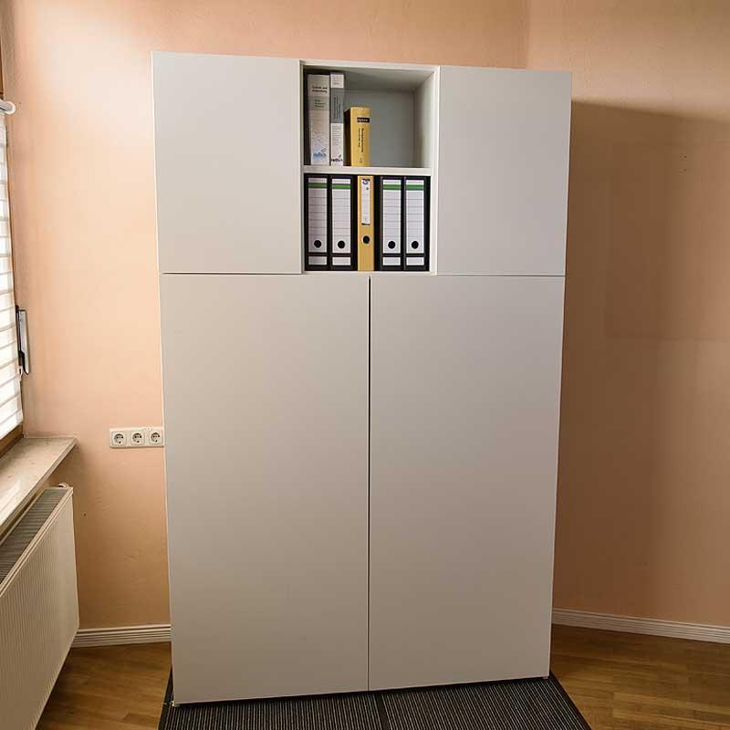 Aufsatzelement BUSINESS Türen und Fachböden -für HomeBox 120 und 160 - Home-Office auf Mass