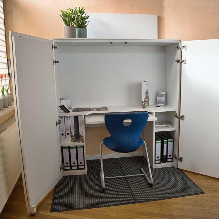 Ausschwenk-Segment CLEVER für Homebox Front offen - Homeoffice-auf-Mass