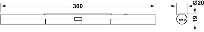 Einbauleuchte für Homebox - Homeoffice auf Mass -  - Abmessungen