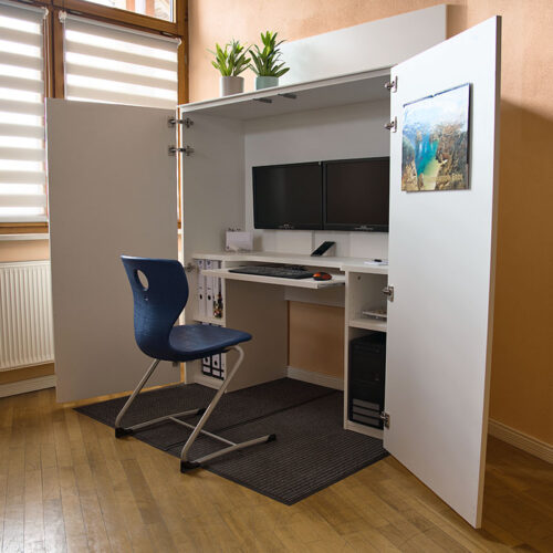 HomeBox - Home-Office im Schrank - Arbeitsplatz