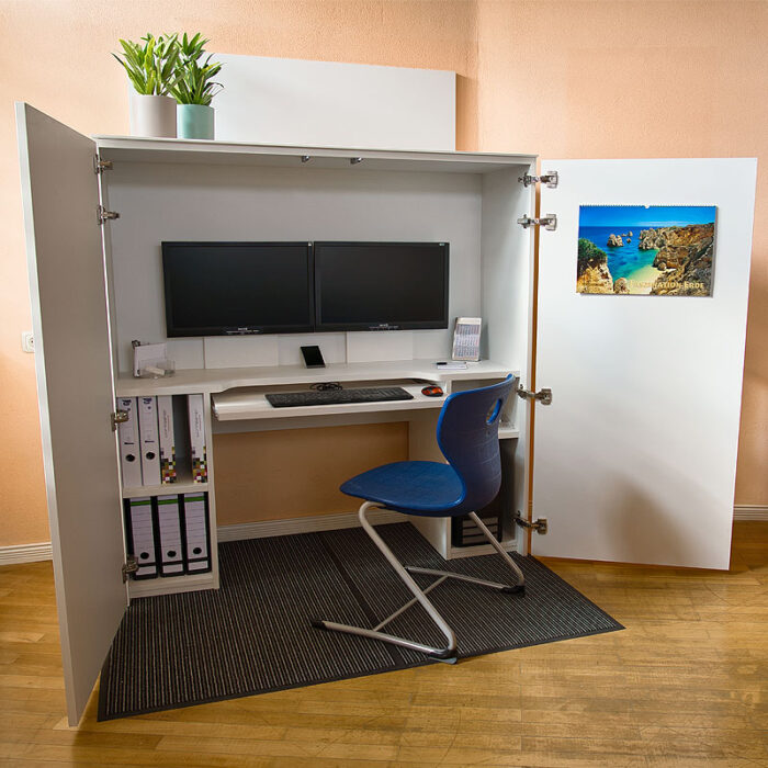 HomeBox - Home-Office im Schrank - Funktionales Design