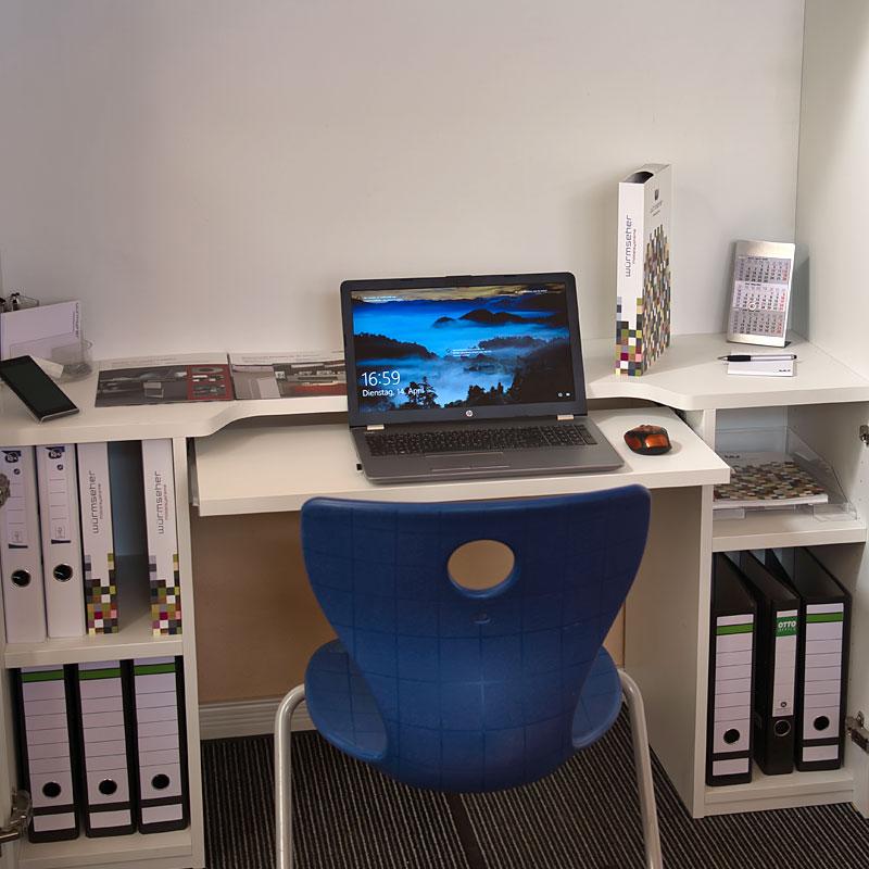 HomeBox - Home-Office im Schrank Front - HomeOffice nach Mass
