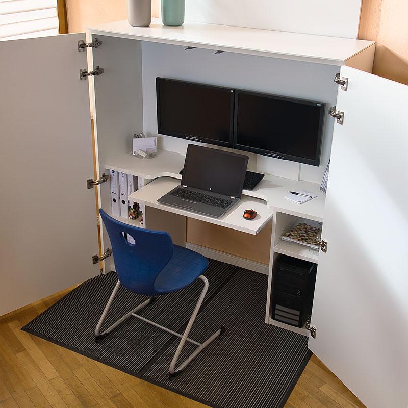 HomeBox - Home-Office im Schrank - Platz für Ihre Büroausstattung