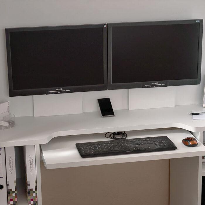 HomeBox - Home-Office im Schrank - Platz für zwei Monitore